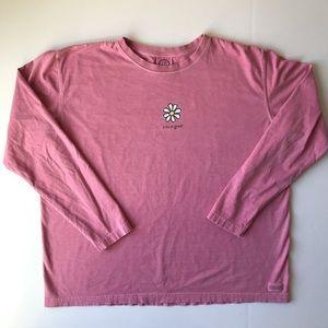 Life Is Good Pink Long Sleeve Shirt {B9}